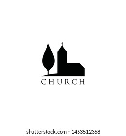 Clean design of a house of worship symbol.