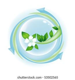 Clean earth symbol