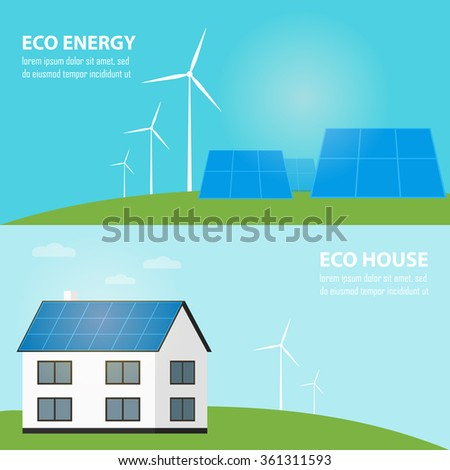 Clean Energy Ecological Types Electricity Renewable Vector