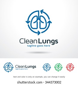 Clean Lungs Logo Template Design Vector