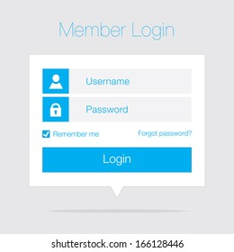 Clean Member Login Design