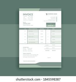 clean and minimal business invoice template vector format, receipt voucher, sales invoice, quotation, bill voucher