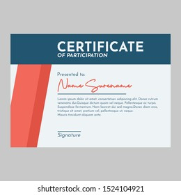clean and minimalist certificate template vektor