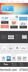 Clean Modern Corporate Website Template Design Vector Eps 10 Illustration