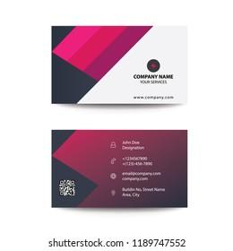 Clean Modern Flat Gradient Style Purple Corporate Business Card