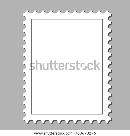 Clean Postage Stamp Template Background Vector Stock Vector (Royalty ...