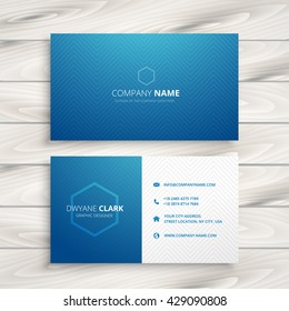 clean simple blue business card