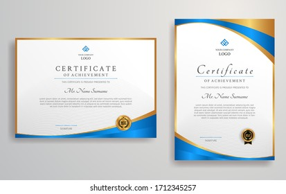 Clean and simple certificate template for business, education, and legal document printing
