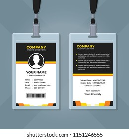 Clean and Simple Employee ID Card Template
