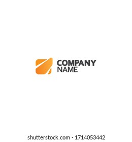 Clean and simple logo mark with symbol of stylized square with the middle representing a spot light