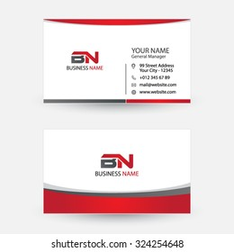 Clean and simple modern business card