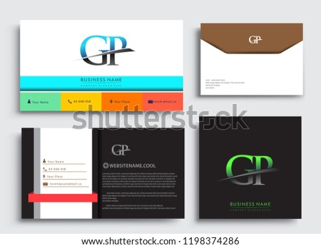 Clean Simple Modern Business Card Template Stock Vector Royalty