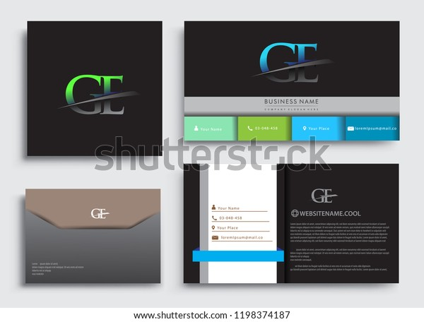 Clean Simple Modern Business Card Template Stock Vector