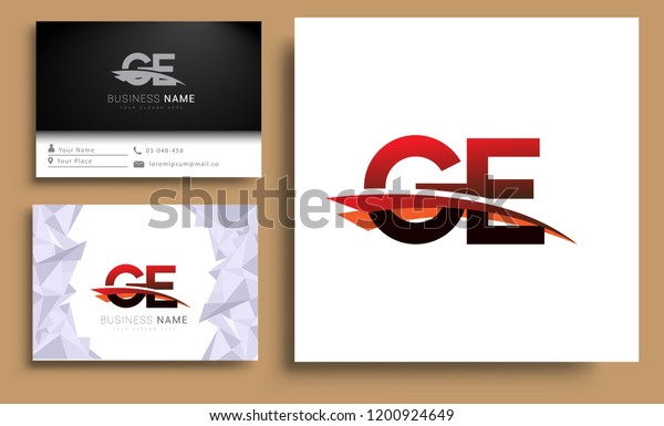 Clean Simple Modern Business Card Business Stock Vector