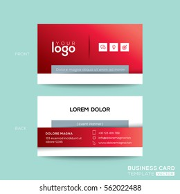 Clean and simple red business card namecard design