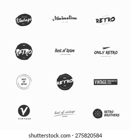 Clean and simple vintage and retro vector logos illustrations. Modern and minimalism styled vector logos for multiple use. Fresh ideas for brand identity work.