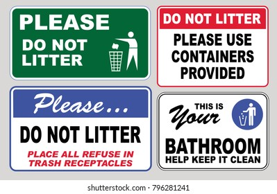 Keep Restroom Clean Images, Stock Photos & Vectors