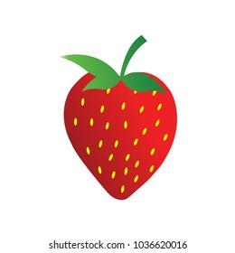 clean strawberry logo design template