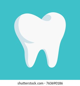 Clean Teeth isolated on blue background. Vector illustration eps 10