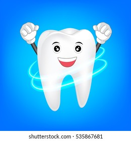 Clean tooth character. Dental care Concept. Illustration icon design.
