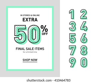 Clean trendy sale banner template. Flat design. Vector.