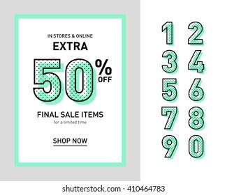 Clean trendy sale banner template. Flat design. Vector.