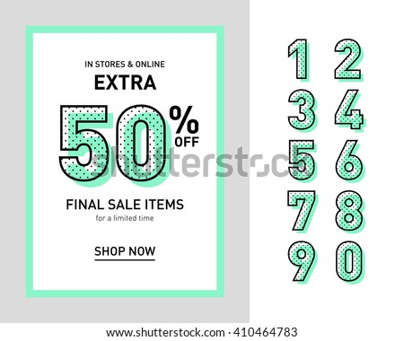 clean trendy sale banner template flat のベクター画像素材