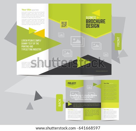 clean trifold brochure flyer design template stock vector royalty
