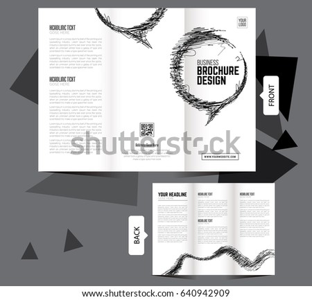 clean trifold brochure template tri fold stock vector royalty free