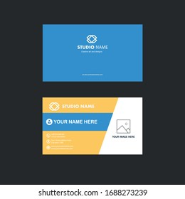 Clean and unique business card template design