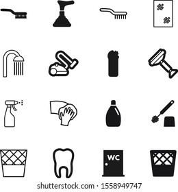 clean vector icon set such as: closeup, dental, product, plunger, beautiful, health, garden, cute, web, windows, teeth, lady, laundry, shadow, spring, electrical, makeup, care, restroom, silhouette