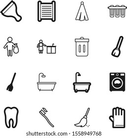 clean vector icon set such as: safety, glass, simple, filter, old, eyes, mammal, appliance, roll, window, towels, human, bristle, house, kitchenware, silhouette, paste, bubble, body, board, glove