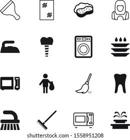 clean vector icon set such as: litter, iron, machine, frame, bag, splash, rubbish, new, night, beautiful, sky, molar, plate, foam, device, dishwasher, stomatology, clinic, farm, wipe, servant