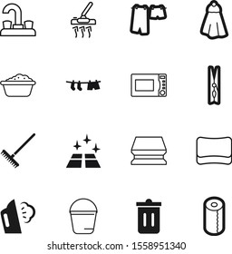 clean vector icon set such as: agriculture, clamp, steel, basin, toilet, squeegee, fresh, wipe, hanging, window, cleanup, pail, handle, cooking, food, broom, recycling, dinner, item, brush, image