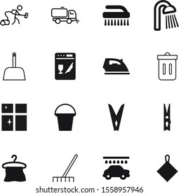 clean vector icon set such as: cleanness, glass, animal, sweeper, technology, electronics, ironing, nozzle, concept, job, rake, wire, light, kitchen, douche, hanger, sky, modern, pet, cat, messy