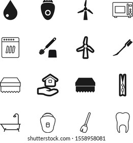 clean vector icon set such as: dry, clothespin, food, teeth, silhouette, dress, property, residential, dinner, utensil, shower, color, sell, clamp, shadow, hold, hand, rope, job, art, construction