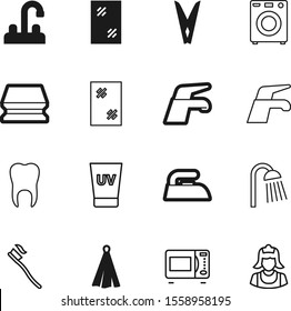 clean vector icon set such as: front, body, work, dinner, skin, lotion, washer, rain, clamp, dentistry, clip, towels, spa, protection, button, sunblock, textile, roll, hot, clinic, pin, dent, cloth