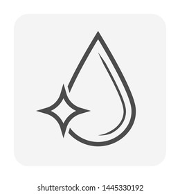 Clean water or water drop vector icon design.