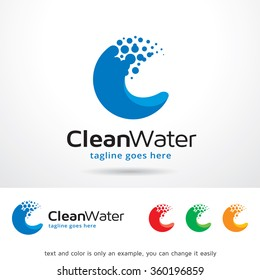 Clean Water Letter C Logo Template Design Vector