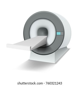 Clean White MRI Machine Isolated. EPS10 Vector