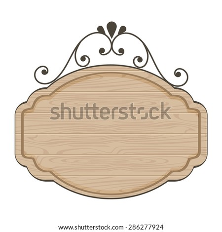 clean wood sign template stock vector royalty free 286277924