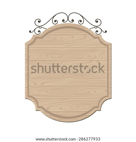 clean wood sign template stock vector royalty free 286277933