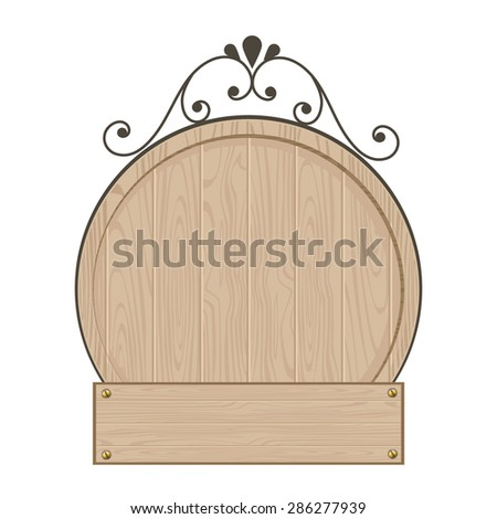 clean wood sign template stock vector royalty free 286277939