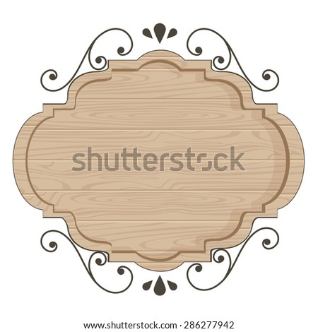clean wood sign template stock vector royalty free 286277942