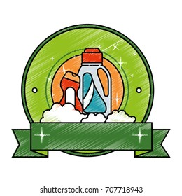 cleaner bottles laundry products emblem