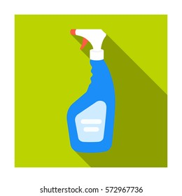 Cleaner spray icon in flat style isolated on white background. Cleaning symbol stock vector illustration.