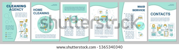 Cleaning Agency Brochure Template Layout Housekeeping Stock
