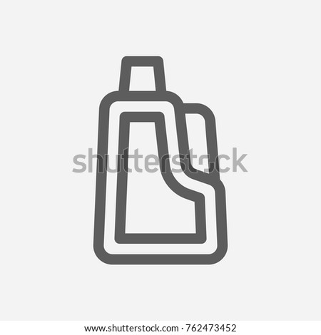 Cleaning detergent icon line. Isolated symbol on clean topic with cleaning  detergent 13314b829acf6