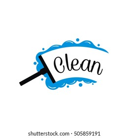 Cleaning the glass illustration vector