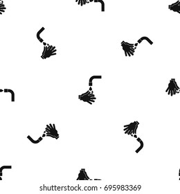 Cleaning hands pattern repeat seamless in black color for any design. Vector geometric illustration